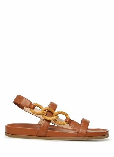 Rodo Rodo  Zincir Detaylı Kadın Deri Sandalet 101614219 Taba